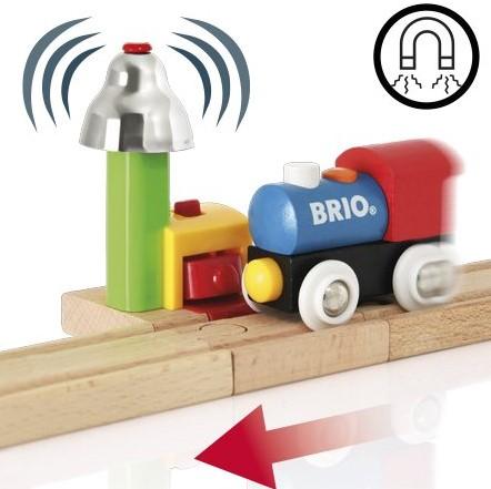Brio  houten trein accessoire My First Railway Bell Signal 33707-2