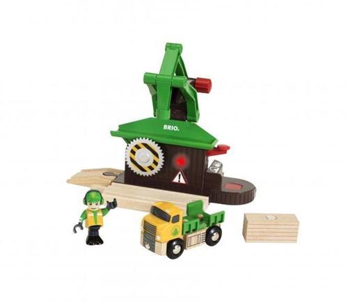 Brio  houten trein accessoire Sawmill Playset 33774-1