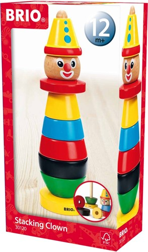 Brio  houten stapelfiguur Stapelclown 30120-2