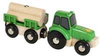 BRIO trein Tractor met aanhanger 33799-1