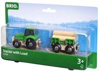 BRIO trein Tractor met aanhanger 33799