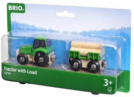 BRIO trein Tractor met aanhanger 33799-3